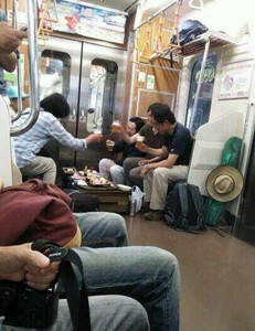 020Or drink beer and eat sushi on the subway