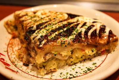 03 - Okonomiyaki sliced view