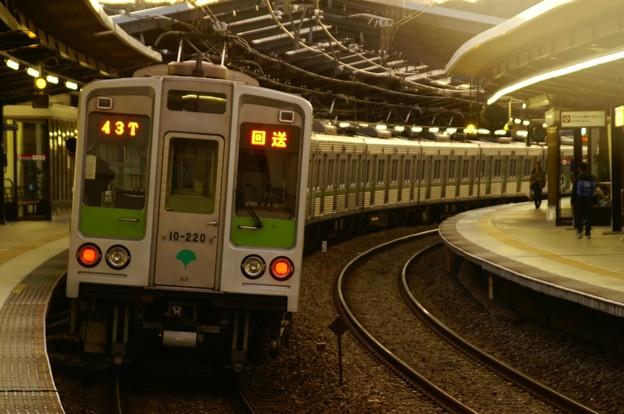 夕ぐれの地下鉄