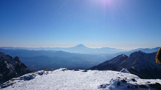 001 阿弥陀岳から富士山