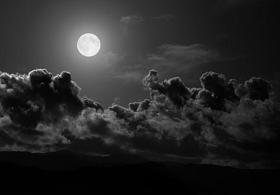 モノトーン・月と空