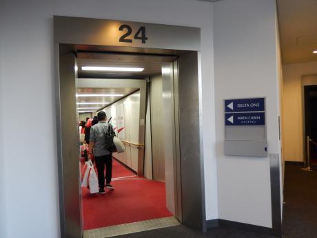 シンガポール2015.10デルタ航空シンガポール行