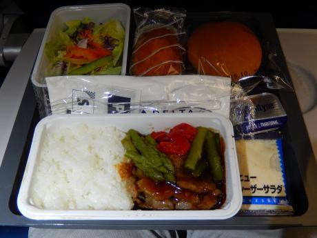 シンガポール2015.10デルタ航空シンガポール行・機内食