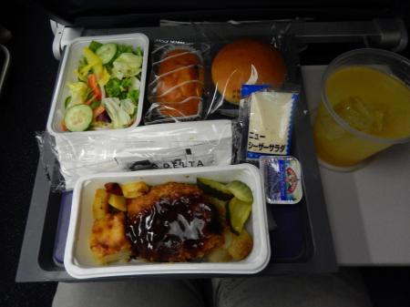シンガポール2015.12デルタ航空シンガポール行機内食