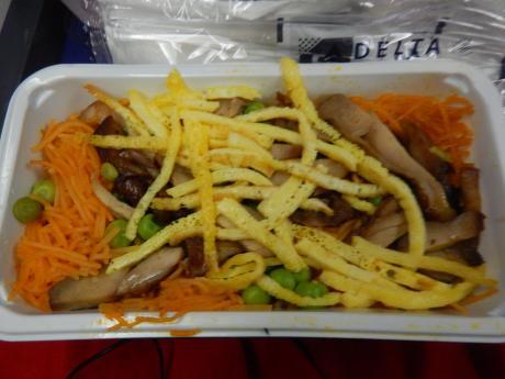 シンガポール2015.12デルタ航空成田行き・機内食