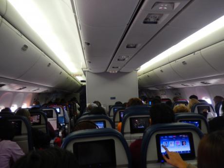 シンガポール2015.12デルタ航空成田行き