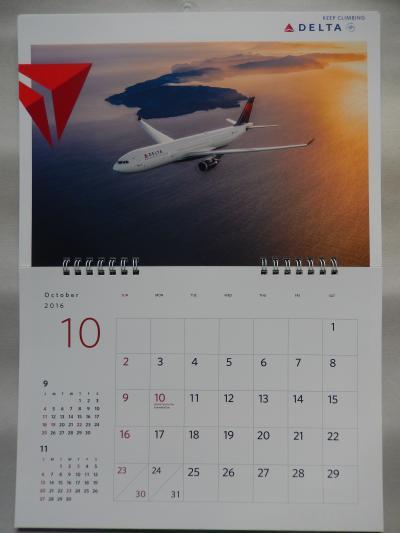 2016デルタ航空カレンダー