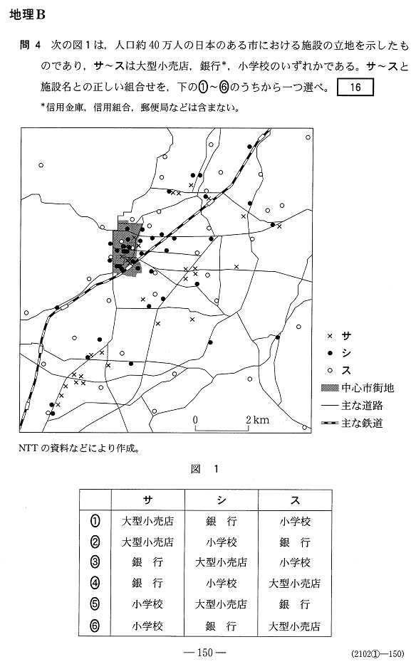 センター地理