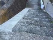 小栗栖小階段スロープ工事完成