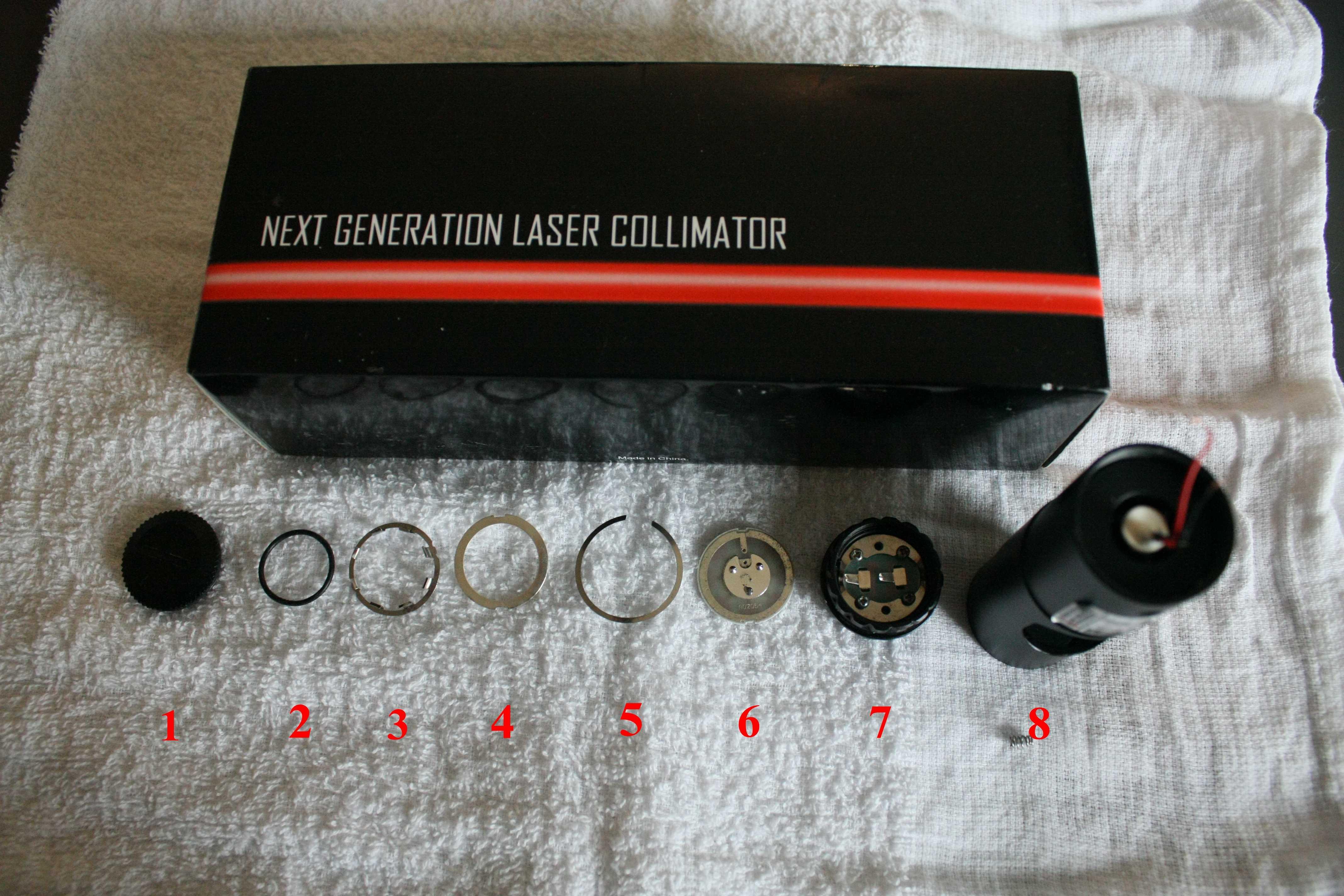 レーザーコリメーター分解