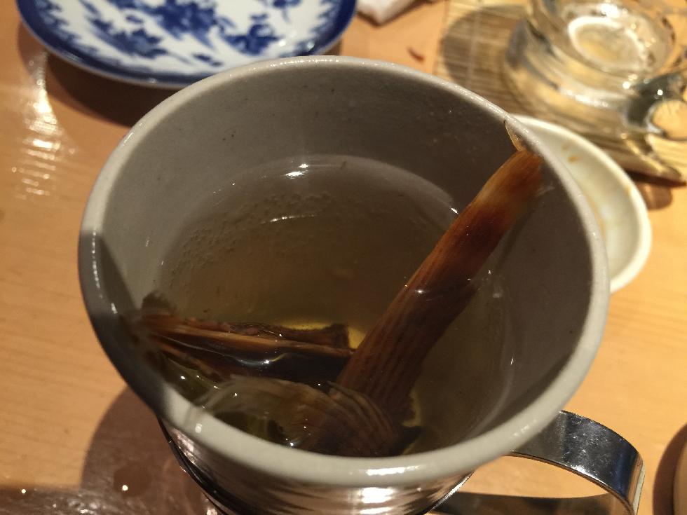 寅八商店心斎橋店カツオひれ酒