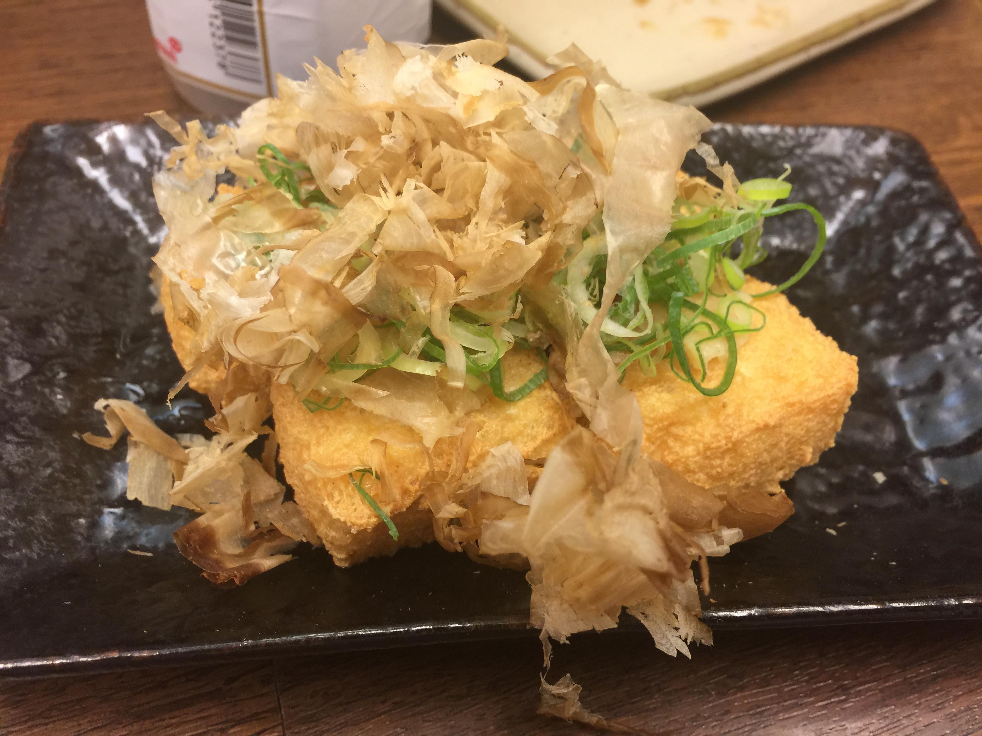 大阪新世界串カツ専門店串カツじゃんじゃん3号店厚揚げ