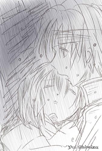 「雨の中」
