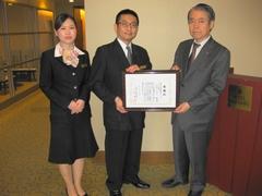 ㈱阪急阪神ホテルズのホテル阪神様ならびに阪急阪神ホールディングスグループ様のご寄付に対しまして、大阪府共同募金会会長の感謝状を贈呈させていただきました。
