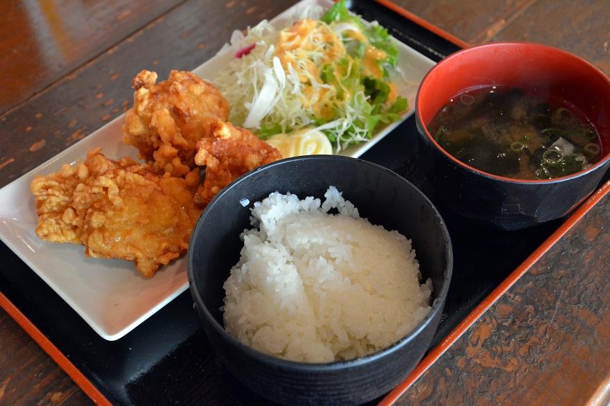 ハーフから揚げ定食 (1)