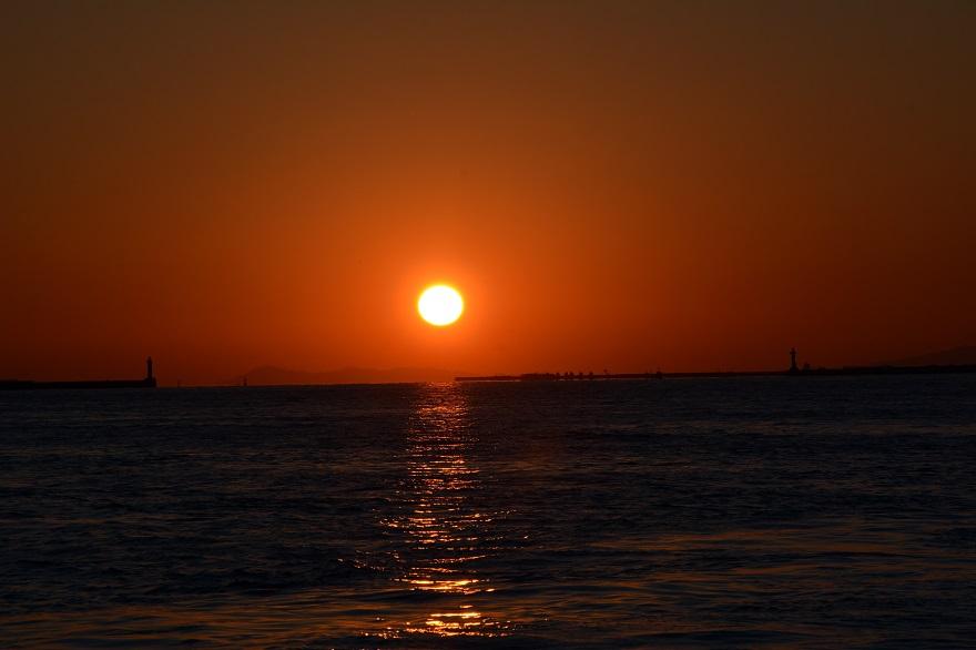 天保山岩壁からの夕陽・夕景 (0)