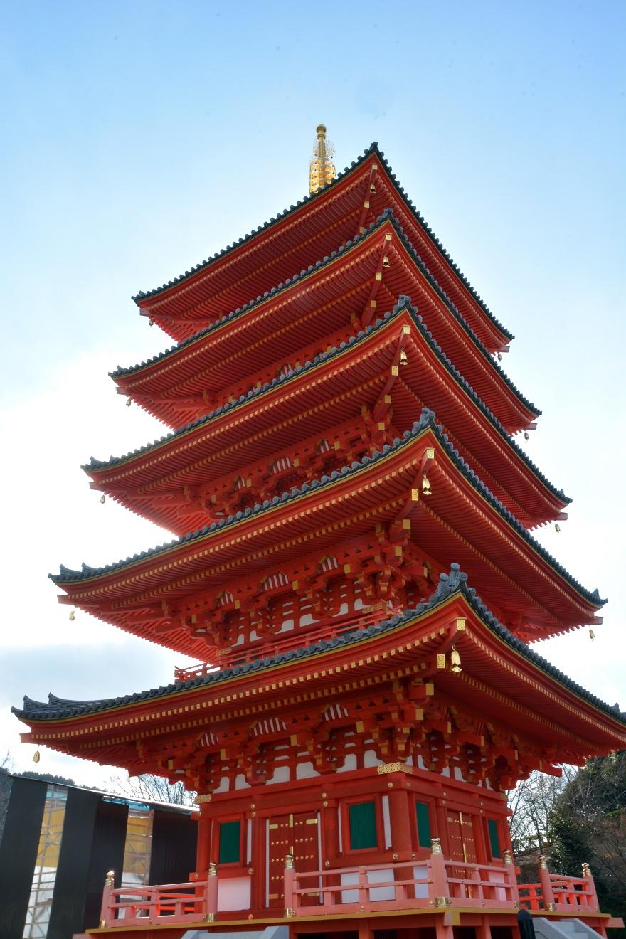岩昭寺の朱き、五重塔 (2)
