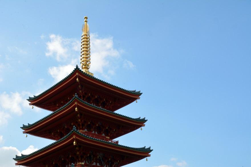 岩昭寺の朱き、五重塔 (13)