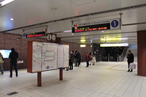 0038:馬車道駅舎 プラットホーム①