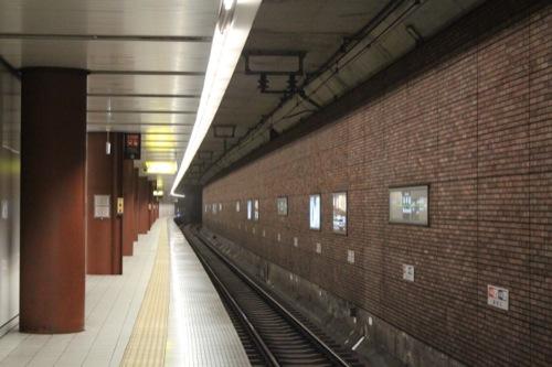 0038:馬車道駅舎 プラットホーム②