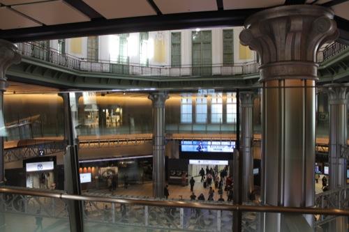 0041:JR東京駅舎 ドーム2階部分からの眺め