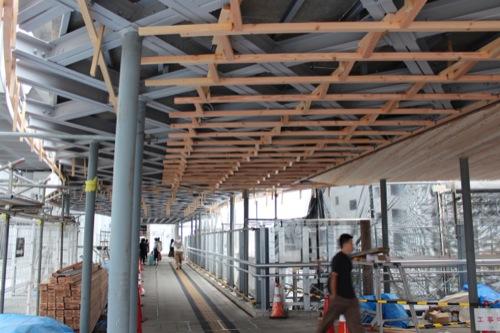 0043:新白島駅舎 工事中の連絡通路
