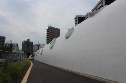 0043:新白島駅舎 東入口から外観を見る