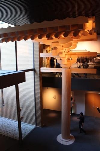 0053:竹中大工道具館新館 唐招提寺金堂の組物模型