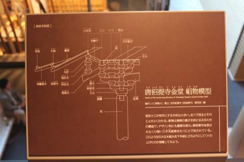 0053:竹中大工道具館新館 組物模型の説明図