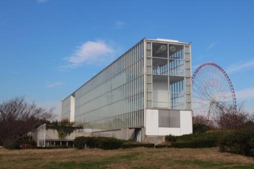 0055:葛西臨海公園レストハウス 南東からの眺め 奥手には観覧車