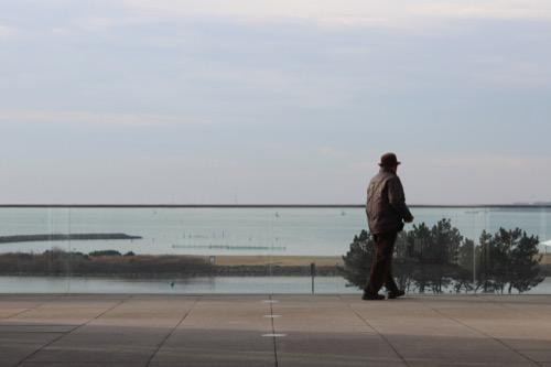 0055:葛西臨海公園レストハウス ゲート越しにみえる東京湾