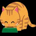 ネコ・餌を食べる