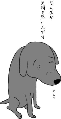 具合がわるい犬