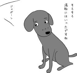 耳をすます犬
