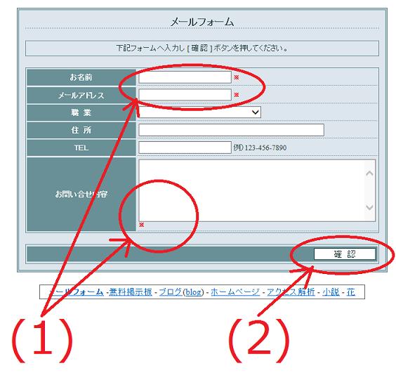 FC2メールフォームの使い方5