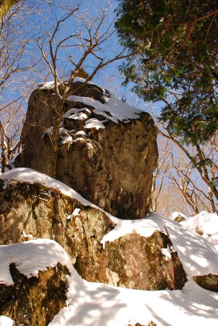 ゴロゴロした岩