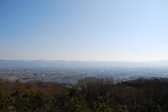 国見台の展望台から奈良盆地の景色
