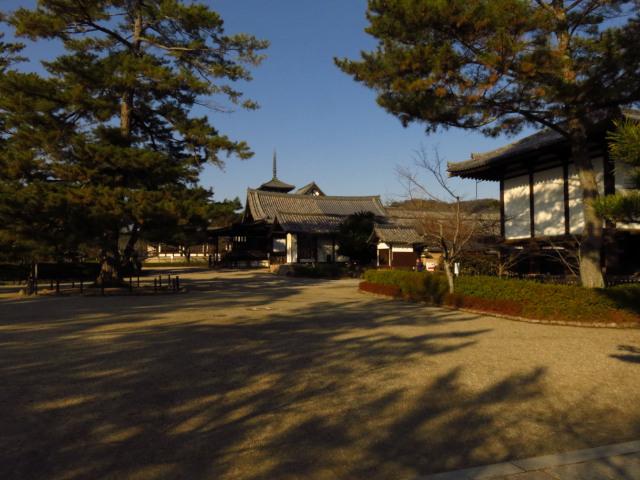 法隆寺の境内