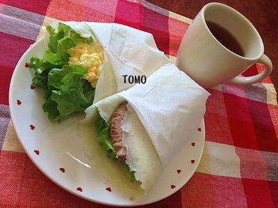 ひらめき朝食♪HM de お食事クレープ