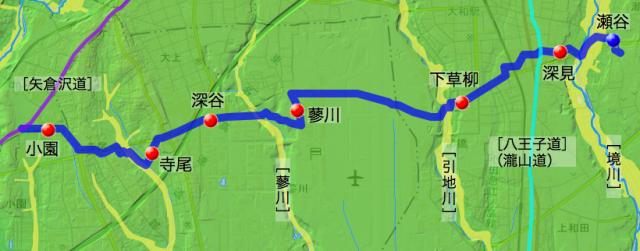 蓼川村を経由していた「厚木道」(概要)