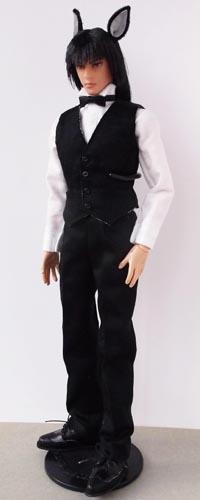 メンズベストスーツ黒