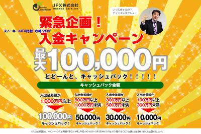 2016年2月JFX入金キャンペーン