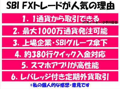 SBI FXトレードが人気の理由