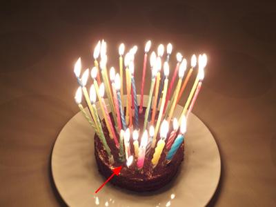 誕生日 歳の数だけ ロウソク
