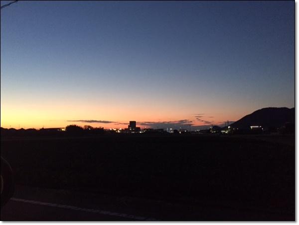 綺麗な夕焼け