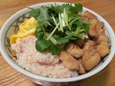 フグの蒸し寿司3