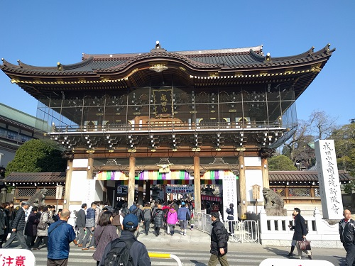 家族で成田山新勝寺へ初詣