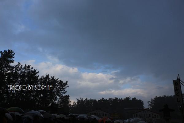正月3日は雨詣で