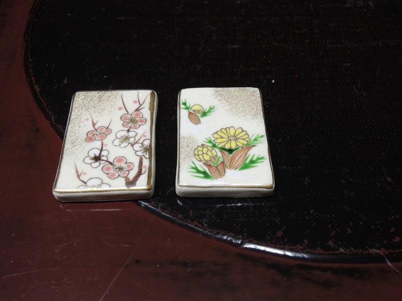 お箸置き 梅と福寿草