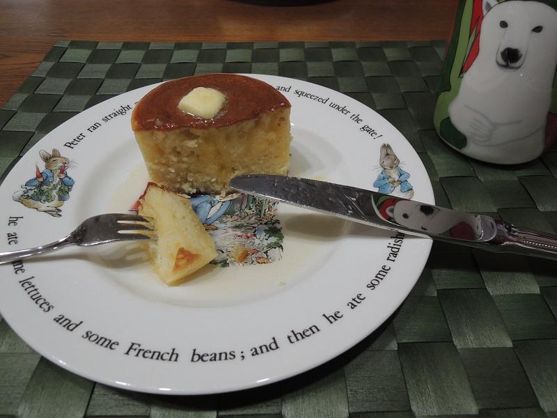 ホットケーキ 中までしっかり焼けています